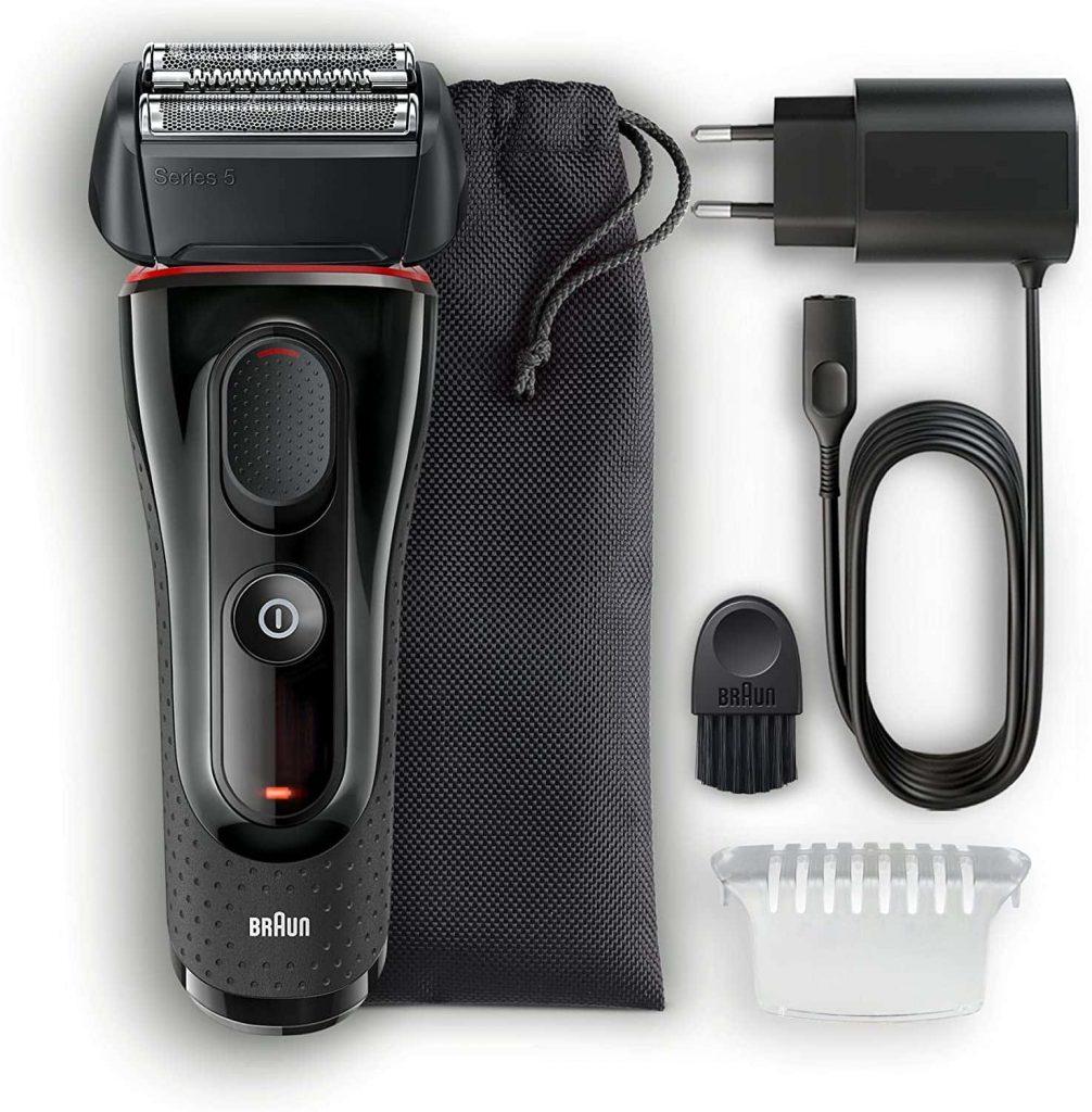 accesorios Braun 5030 Series 5 - Afeitadora Eléctrica Hombre, Afeitadora Barba, Recortador de Precisión Extraíble, Recargable e Inalámbrica