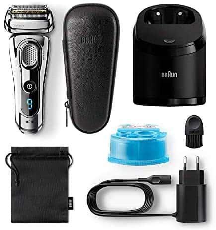 accesorios Braun 9297 Series 9 - Afeitadora Eléctrica, Máquina de Afeitar Barba en Seco y Mojado, Recortadora de Precisión Integrada, Recargabl
