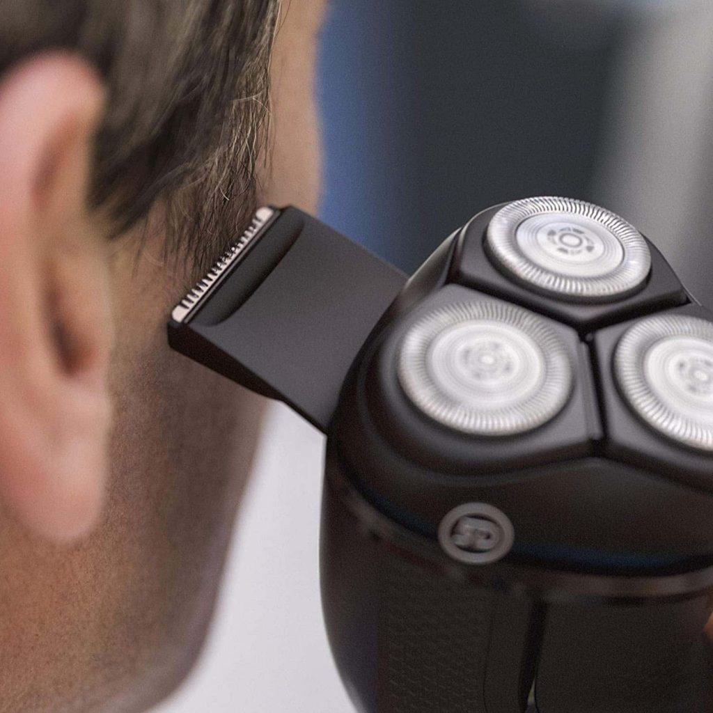 accesorios Philips Serie 3000 S3233 52 - Afeitadora eléctrica, cabezales pivotantes y flexibles 5D, cortapatillas desplegable para bigote y pat